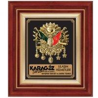 3238-Promosyon Figür Duvar Panosu (Osmanlı Arması) Altın Renk