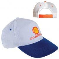 20302 K-Promosyon Şapka (Beyaz-Mavi)