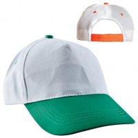 20302 K-Promosyon Şapka (Beyaz-Yeşil)
